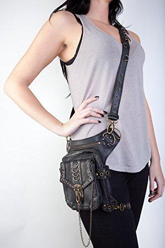 Blaster 3.0 Black Leather Hip Bag / Shoulder Holster / Cross-Body Bag