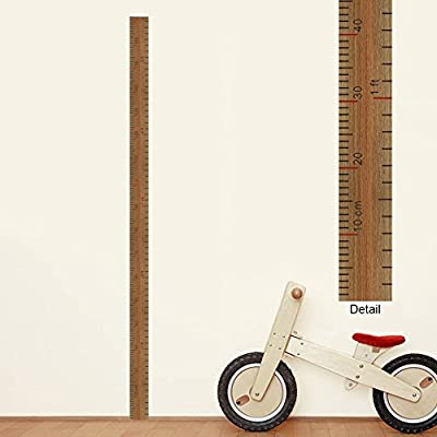 BIBITIME Nursery Growth Chart for Kids Room Decor Measuring Ruler ft Height Chart Wall Decal Classroom Bedroom Living Room Back Door Porch Vinyl Sticker: Home & Kitchen