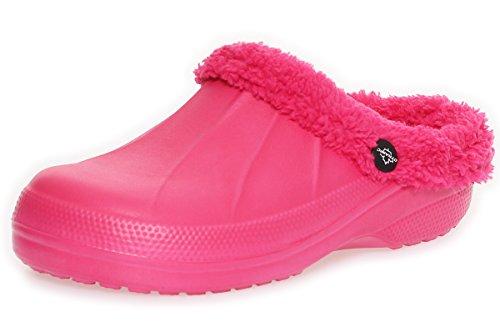 Invernali da Donna Ciabatte Pink Zoccoli Pelo cleostyle da Bagno Ragazza 292 Pantofole nCqxzR