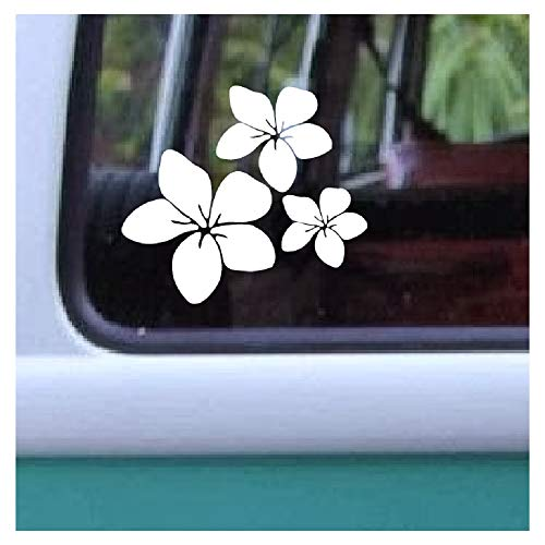 Flower Creation (Aloha Maui Creations Plumeria Trio Decal Hawaiian Flower Vinyl Sticker 4.25 by 4.8 inch)