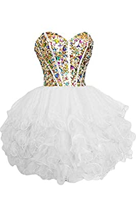 Sunvary Gorgeous Rhinestone Short Girls Homecoming Prom Dresses
