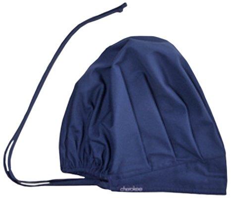 Cherokee 2510 Adult's Bouffant Scrub Hat Navy One Size