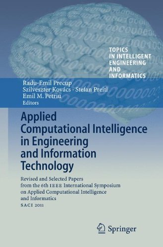 Applied Computational Intelligence in Engineering and Information Technology: Revised and Selected Papers from the 6th I