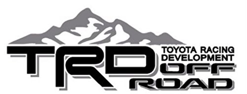 Toyota TRD Truck Mountain Off-Road 4x4 Racing Tacoma Decal Vinyl Sticker PAIRof2 (BLACK / GREY)