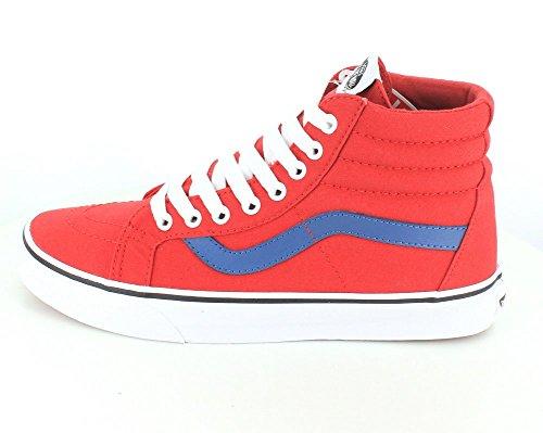Vans Sk8-hi Reissue, Zapatillas altas unisex (canvas) racing red/blue