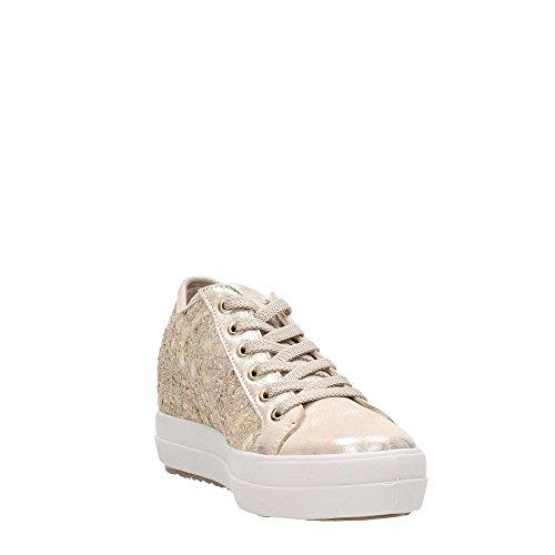 Scarpa Pizzo In Zeppa 11501 amp;Co Interna Pelle IGI Italy Chiaro Donna Oro Made e Oro Sneaker TPIyw1cq