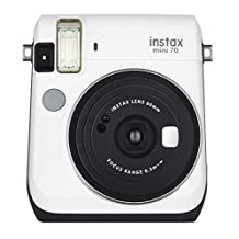 Fujifilm Instax Mini 70 - Instant Film Camera, Moon White