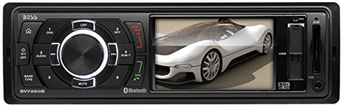 BOSS AUDIO BV7260B Single-DIN 3.2 inch Screen MECH-LESS Receiver, Bluetooth, Wireless Remote