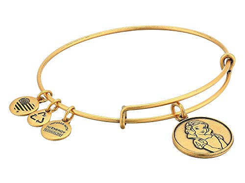 Disney Alex and Ani Princess Snow White Gold Charm Bangle Bracelet