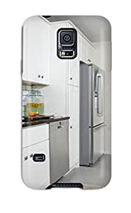 Snap On White Kitchen With Stainless Appliances And Grey Tile Flooring Case Cover Skin Compatible With Galaxy S5
