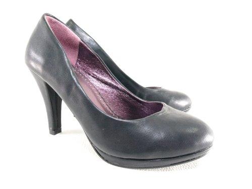 Damen High Heel Pumps Abendschuhe Schwarz # 5889