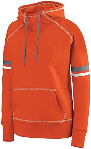 Augusta Sportswear Womens Spry Hoodie 2XL Orange/White/Graphite