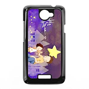 Purple Happy HTC One X Cell Phone Case Black K3965987