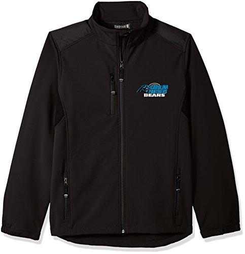 NFL Carolina Panthersメンズソフトシェルジャケット、M、ブラック