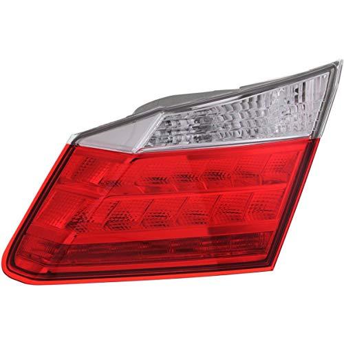 New Right Passenger Side Inner Tail Lamp Assembly With LED Light For 2013-2015 Honda Accord Sedan, EX-L, Hybrid, Touring Models HO2803106 34150T2AA11 ()