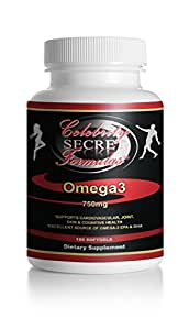 Omega 3 Fish Oil Capsules (180 Count/Bottle) - Maximum Strength Supplement (1,500mg Omega 3: 600mg DHA + 800 mg EPA + 100mg Other Omega-3 Fatty Acids per Serving) - Burpless Capsules