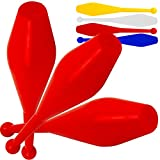 Set Of 3 Jac Products Flare One Piece Juggling Clubs (All Red)