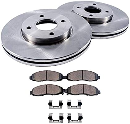 4 Ceramic Pad Fits 02-06 Acura RSX Rear 2 Drilled Slotted Performance Rotors