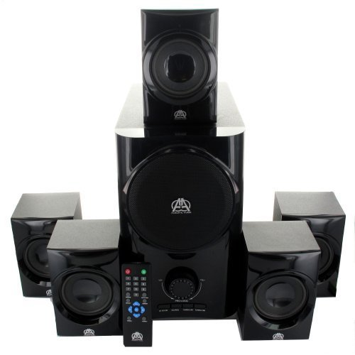 Acoustic Audio AA5160 Home Theater 5.1 Speaker System 500W with Powered Sub