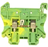 Phoenix Contact, 3044092, UT 2,5-PE Feed Through Ground Terminal Block (Green/Yellow) (20 Pieces)