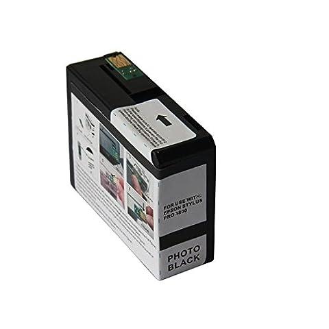 G&G Photo Black Ink Cartridge Remanufactured For Epson T5801PBK, 80ml (Epson T5801)