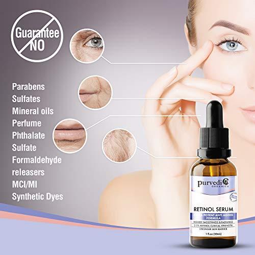 41o98omfTSL - Retinol Serum With Hyaluronic Acid - Organic 2.5% Anti Aging Face Serum with Vitamin C & Retinol A For Skin Brightening - Ultra Potent Retinol Hyaluronic Acid Serum