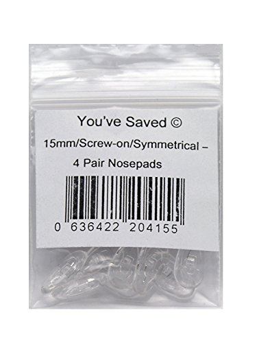 Screw-on Silicon Nose Pads 4 Pair ()