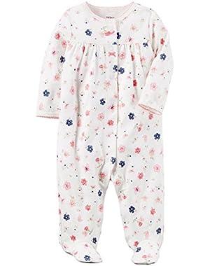 Baby Girl Floral Sleeper (Preemie)