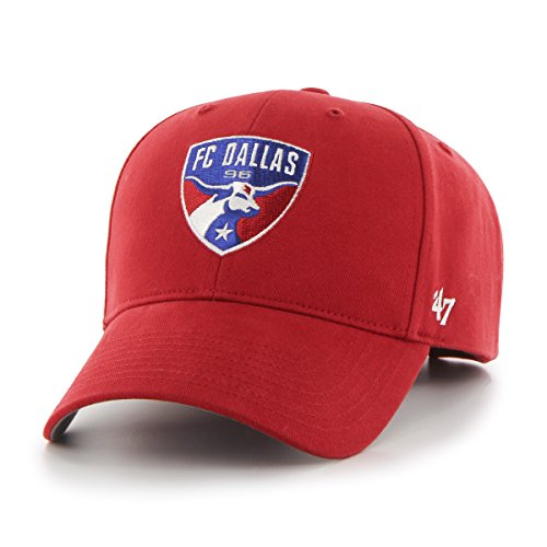 MLS FC Dallas '47 Brand Basic MVP Adjustable Hat, Red, - Mlb Cap Youth Adjustable Girl