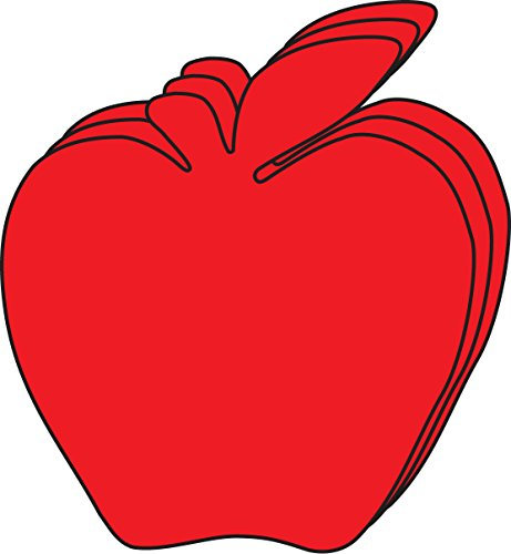 Red Apple Large Single Color Creative Cut-Outs, 5.5