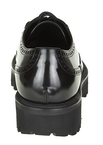 Dolce Pelle Nera E Gabbana Degli Uomini A10095ac46080999 Scarpe Stringate