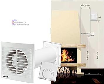Ventilador extractor calefactor, distribuye aire caliente de una ...
