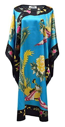Laciteinterdite Kimono Robe d'intrieur Femme Style Boubou Satin Motif Chinois Modle 10