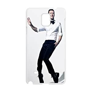 Samsung Galaxy Note 4 Cell Phone Case White_Justin Timberlake Qeeao