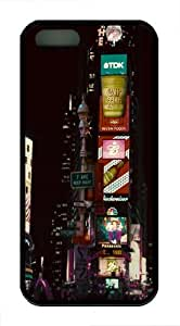 NYC USA TPU Silicone iPhone 5S/5 Case Back Cover - Black