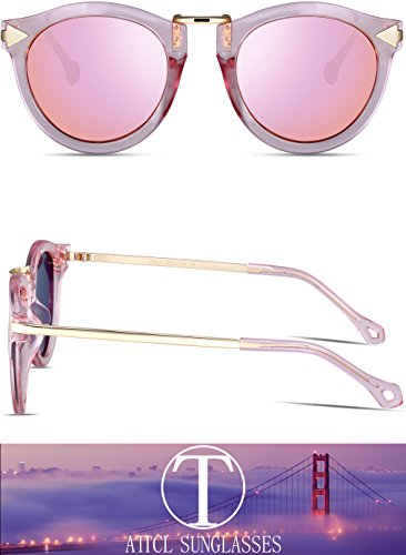 32df95ecff ATTCL Vintage Fashion Round Arrow Style Polarized Sunglasses for Women  1189-Pink