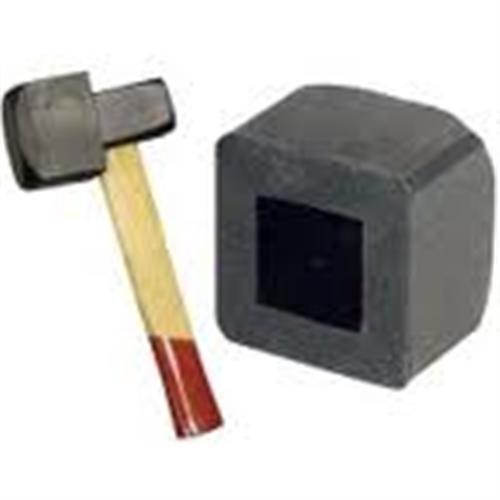 1250 g Hammer Vorschlaghammer Fäustel, 1,25 g mit Gummiaufsatz