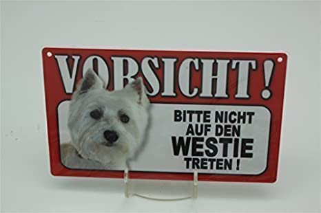 WESTIE - señal de advertencia de animales - VORSICHT Tier ...