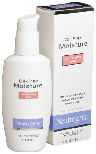 Neutrogena Oil Free Moisture Glycerin Face Moisturizer & Neck Cream Derived from Castor Oil, Lightweight, Oil Absorbing, Soft Natural Matte Finish Facial Moisturizer Lotion, 4 fl. oz (Pack of 2)