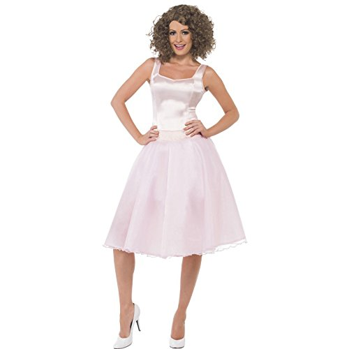 Smiffy's Women's Dirty Dancing Baby Last Dance Costume, Dress & Wig, Size: (Dirty Dancing Halloween Costumes)