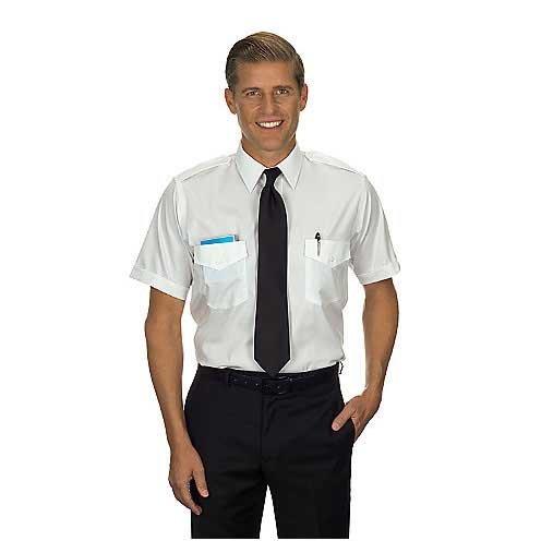 Van Heusen Men's Commander Tall Pilot Shirt, Short Sleeve, 16.5