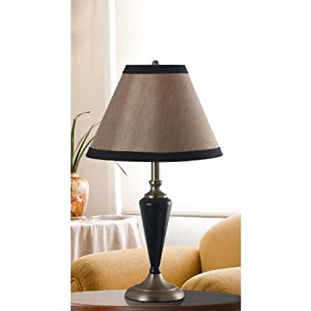 Kenroy Home 30349 Hunley Table and Floor Lamp, 3 Pack, Bronzed Brass