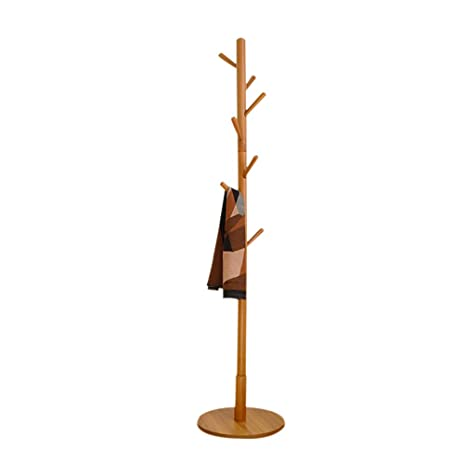 Amazon.com: LiChenYao Household Coat Rack Solid Wood Floor ...