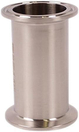 Tri Clamp 1 in - Stainless Steel 304 // 3A x 4 in Sanitary Spool Glacier Tanks