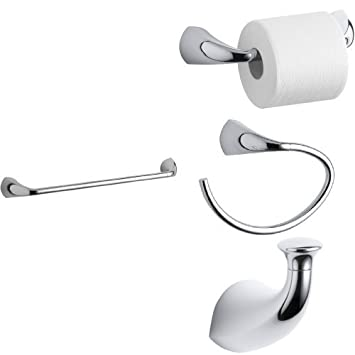 KOHLER Alteo 4 Piece Bath Accessory Set With 18 In. Towel Bar   Polished