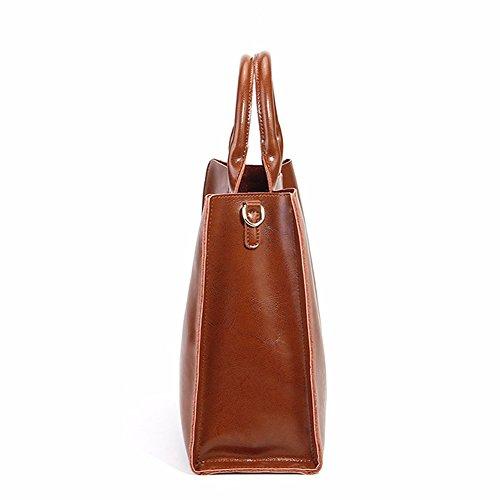 fashion bandoulière femme portés 1085 épaule Sac à cuir Girl portés Sac en Sac main Sac E LF Marron main xwqYTzBC
