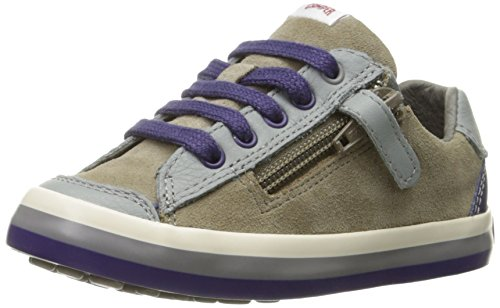 Smooth Brown Kids Shoes Dark (Camper Kids Pelotas Persil Vulcanizado Sneaker (Toddler/Little Kid/Big Kid), Sella Magalluf/Afelpado Lapa/Vulkan Rainbow Pau, 31 EU/13 M US Little Kid)