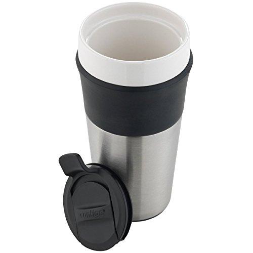 Contigo Knox Insulated Ceramic Travel Mug, 12oz, Stainless Steel