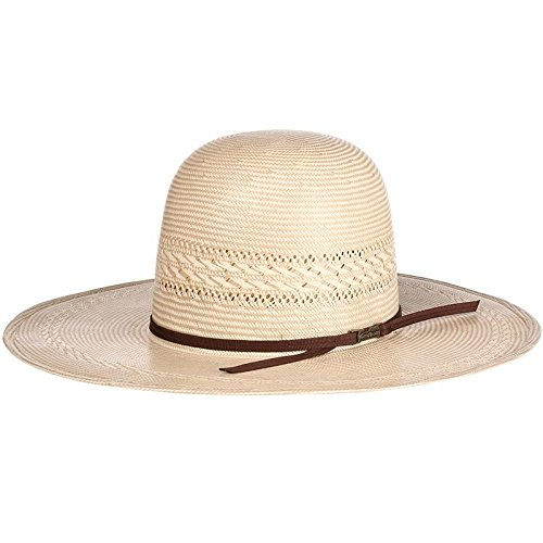 American Hat Company Mens Tuf Cooper Collection 20 Star Ivory Tan Fancy Weave 4 1/4 Brim Straw Cowboy Hat 7 Ivory/Tan