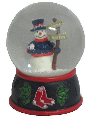 The Memory Company MLB Boston Red Sox Christmas Snow Globe, One Size, (Boston Red Sox Snowman)